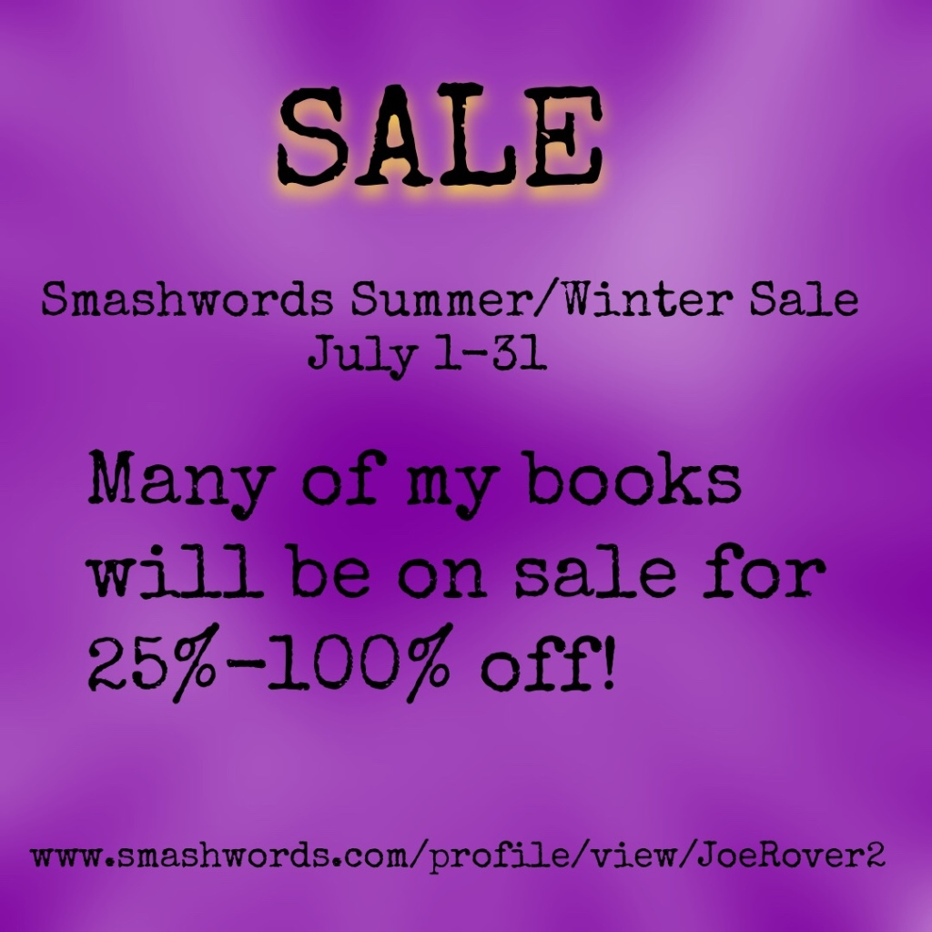 July 1-31 sale at Smashwords.com
